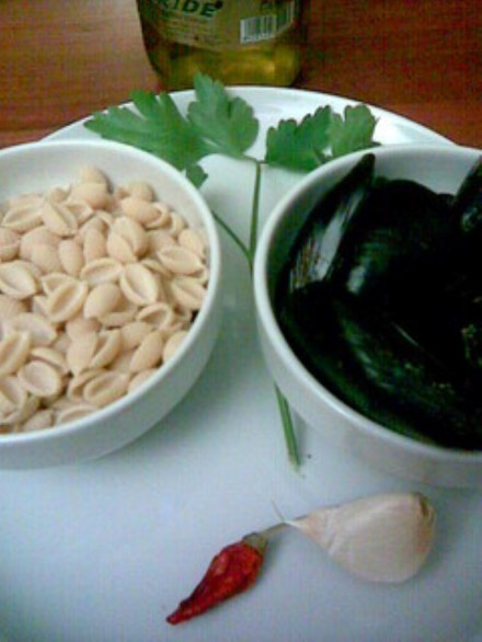 Gnocchetti sardi with mussels ingredients
