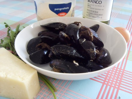 Baked mussels ingredients