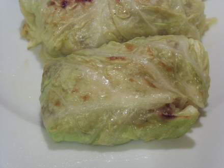 Stuffed cabbage finished dish