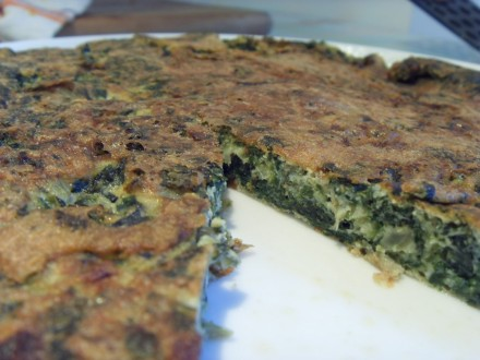 Swiss chard frittata finished dish